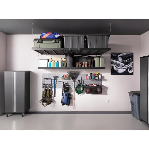 Newage Products Pro Series 184 In W X 85 25 In H X 24 In D 18 Gauge Steel Garage Cabinet Set In Gray 10 Piece 52099 The Home Depot
