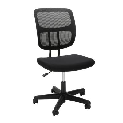 Essentials Collection Armless Mesh Office Chair, in Black (ESS-3002)