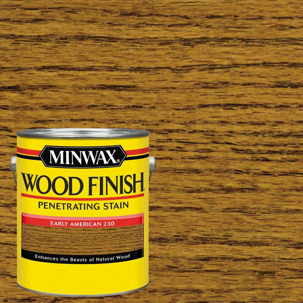 1 gal. Wood Finish Early American Oil Based Interior Stain (2-Pack)