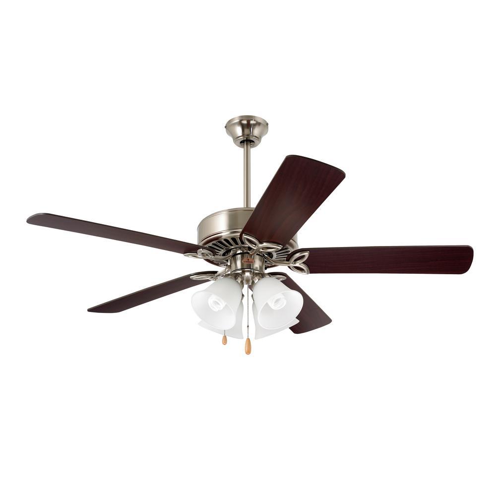 Pro Series II 50 in. Brushed Steel Ceiling Fan