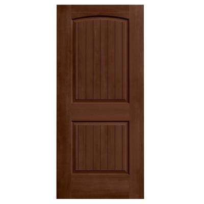 36 in. x 80 in. Santa Fe Milk Chocolate Stain Molded Composite MDF Interior Door Slab