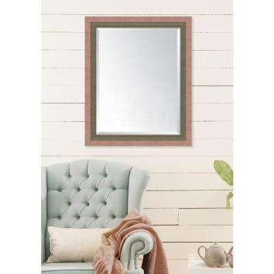 28 in. x 34 in. Framed Autumn Spice and Farmhouse Brown Mirror