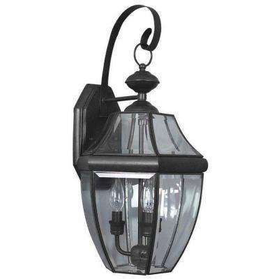 Mathers 3-Light Black Outdoor Wall Lantern