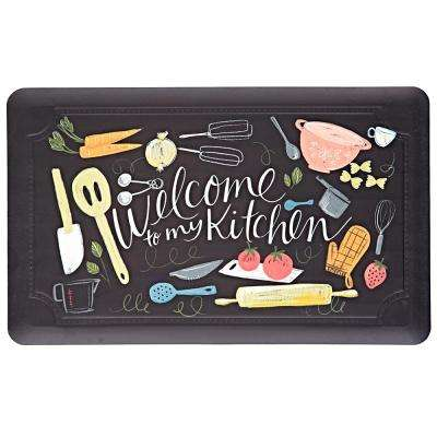 Scattered Kitchen 18 in. x 30 in. Kitchen Mat