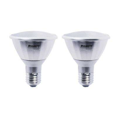75W Equivalent Cool White Light PAR30LN Dimmable LED Wet Rated Light Bulb (2-Pack)