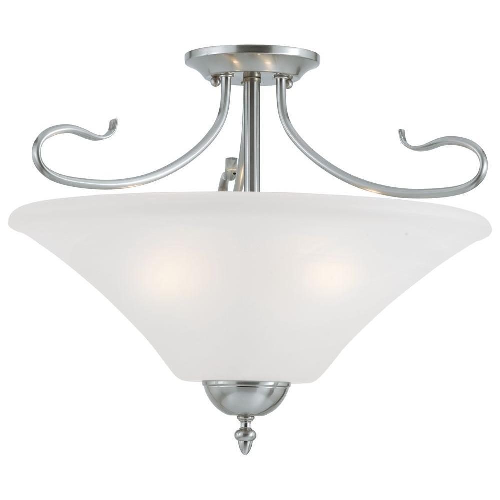 Elipse 3-Light Brushed Nickel Hanging Pendant