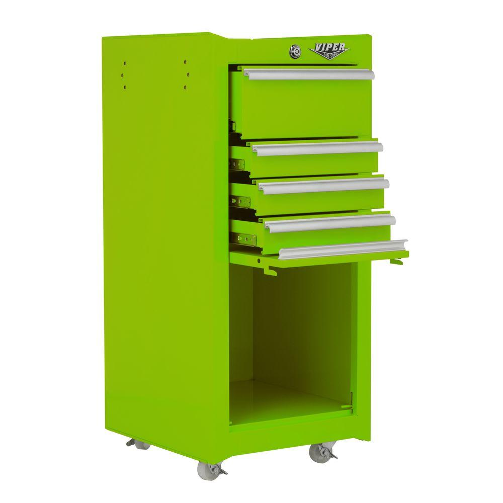 Viper Tool Storage 16 in. 4-Drawer Tool/Salon Cart in Lime