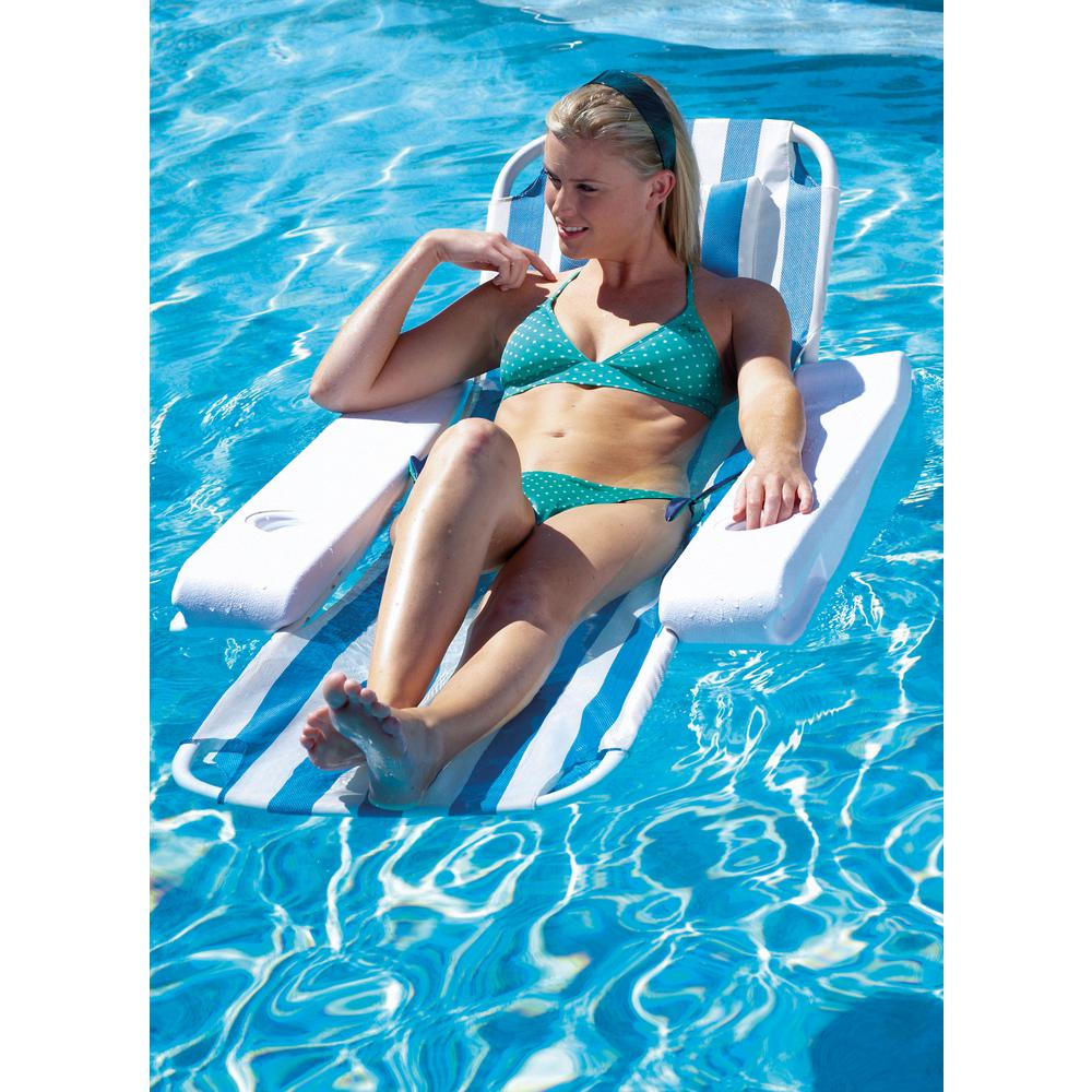 Ocean Blue Tranquility Lounger Swimming Pool Chair