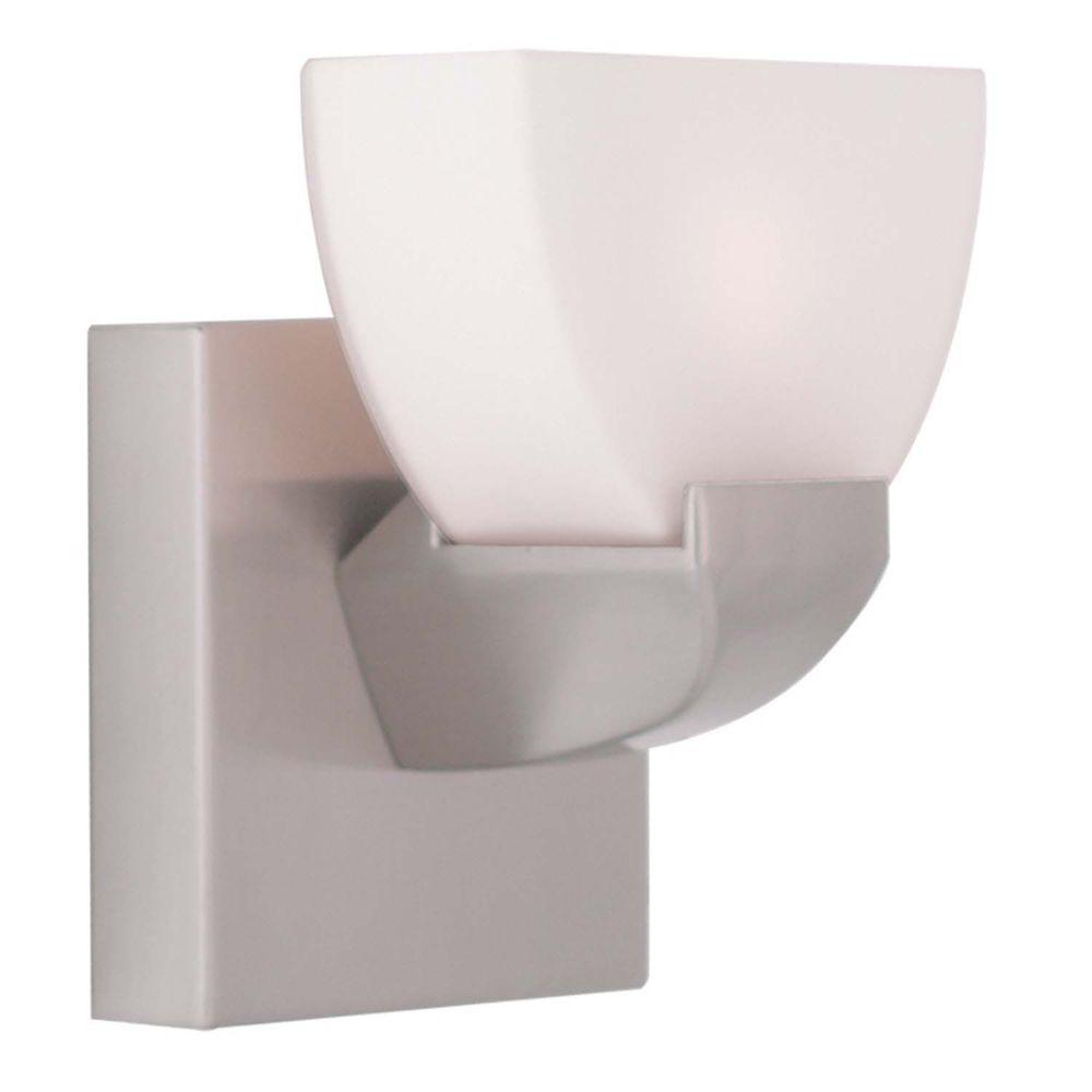 Filament Design Providence 1-Light Brushed Nickel Halogen Bath Vanity Light