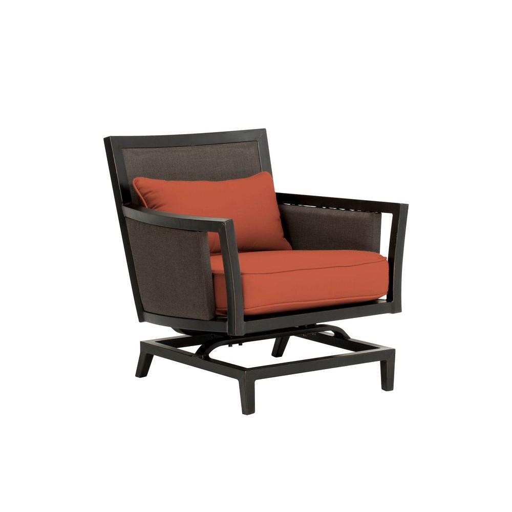 Greystone Patio Motion Lounge Chair in Cinnabar -- CUSTOM