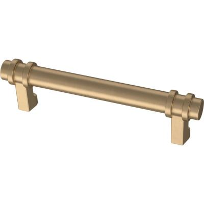 Classic Ringed 3-3/4 in. (96 mm) Champagne Bronze Drawer Pull
