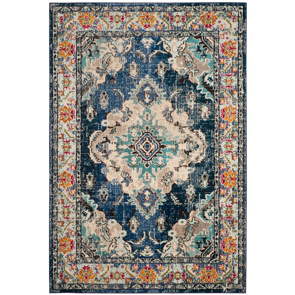 Safavieh Monaco Navy Light Blue 9 Ft X 12 Ft Area Rug