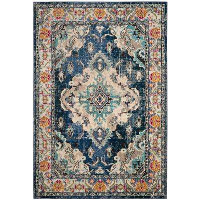 Monaco Navy/Light Blue 9 ft. x 12 ft. Area Rug