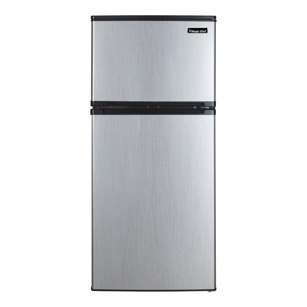 MagicChef Magic Chef 4.3 cu. ft. Mini Fridge in Stainless Look