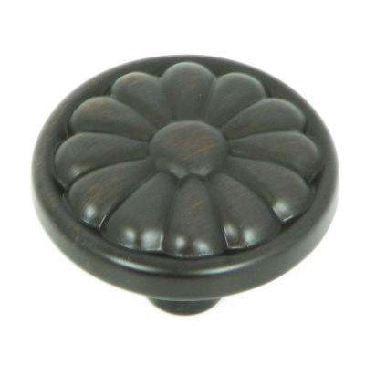 Holland 1-1/4 in. Oil Rubbed Bronze Round Cabinet Knob
