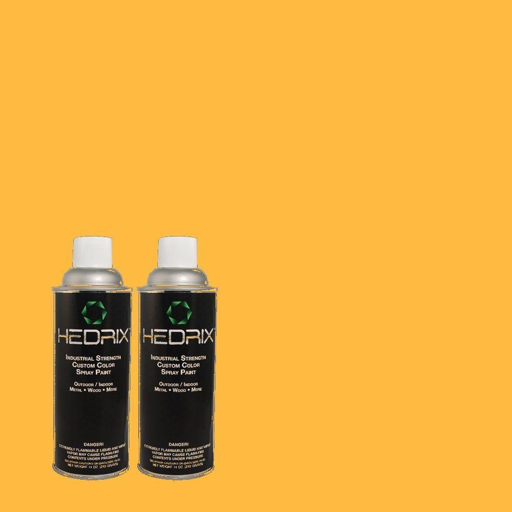 Hedrix 11 oz. Match of 300B-6 Glorious Gold Semi-Gloss Custom Spray Paint (2-Pack)