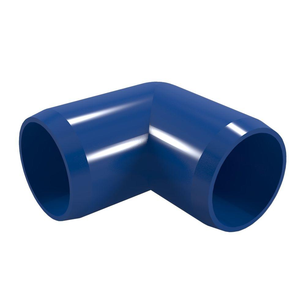 Formufit 1/2 in. Furniture Grade PVC 90-Degree Elbow in Blue (10-Pack)