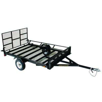 UniStar 6 ft. x 9.5 ft. ATV Trailer Kit with Side Loading Ramps and Rear Loading Gate