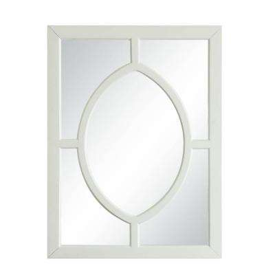 Morton 30 in. x 40 in. Framed Vanity Mirror in White
