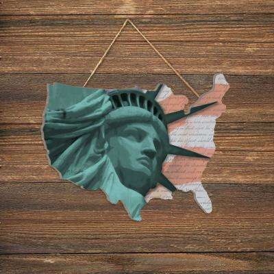 """Lady Liberty"" by Lauren Rader Wood Wall Art"