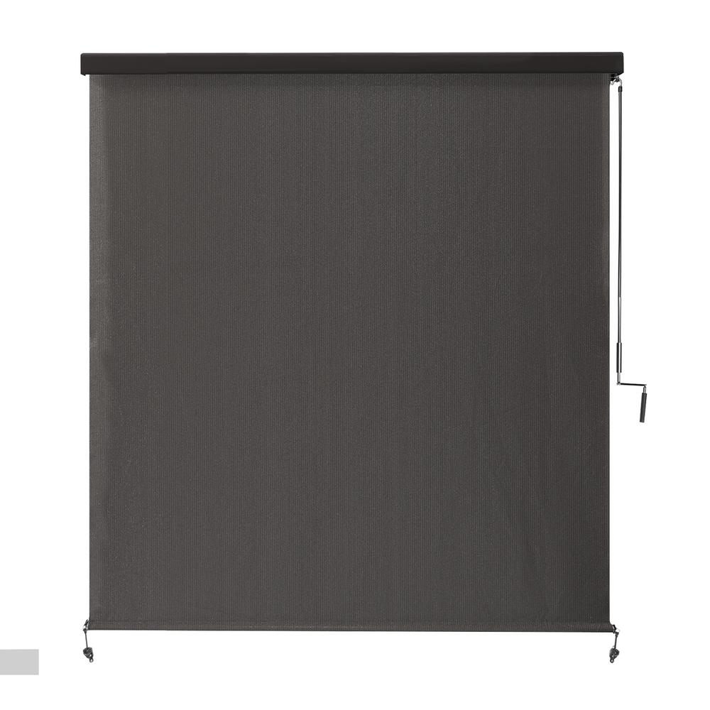 Coolaroo Montecito Cordless UV Blocking Fade Resistant Polypropylene Exterior Roller Shade 72 in. W x 96 in. L