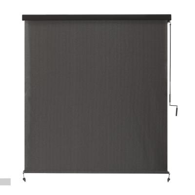 Montecito Cordless UV Blocking Fade Resistant Polypropylene Exterior Roller Shade 72 in. W x 96 in. L