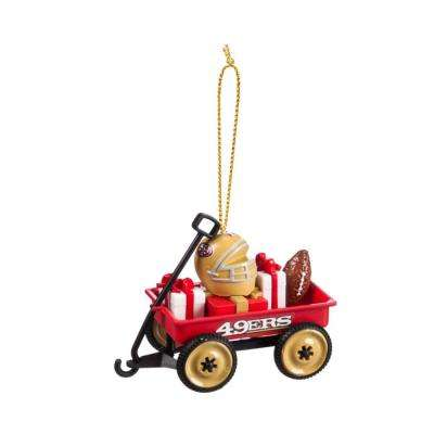 San Francisco 49ers 1-3/4 in. NFL Team Wagon Christmas Ornament