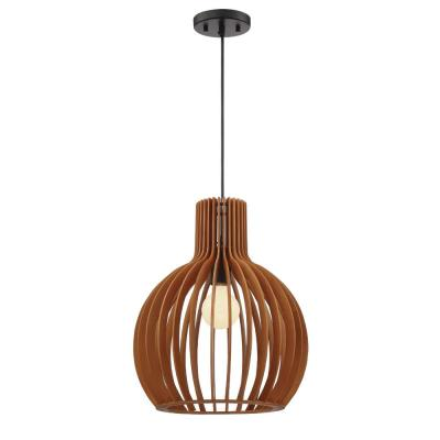 Kahale 1-Light Mehana Wood Hanging Pendant