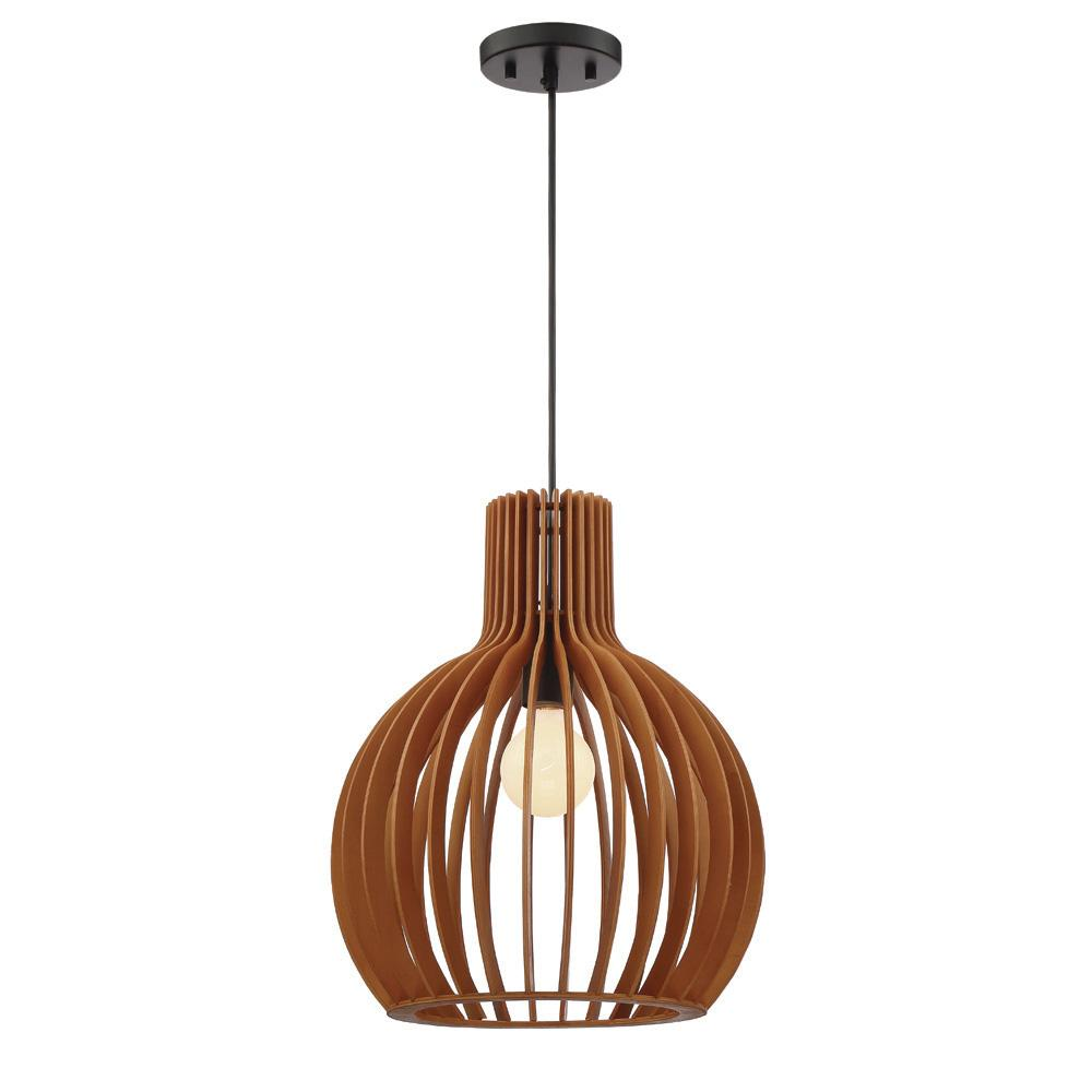 Browntan pendant lights lighting the home depot kahale 1 light mehana wood hanging pendant aloadofball Choice Image
