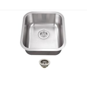 All-in-One Undermount Stainless Steel 16 in. 0-Hole Single Bowl Kitchen Sink