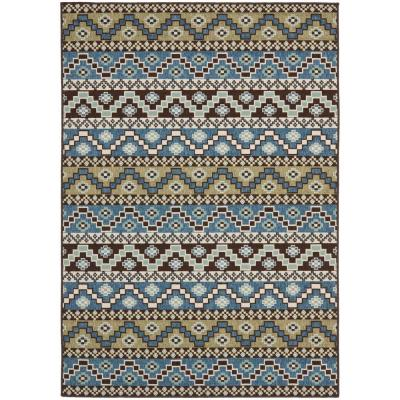Veranda Blue/Creme 7 ft. x 10 ft. Indoor/Outdoor Area Rug