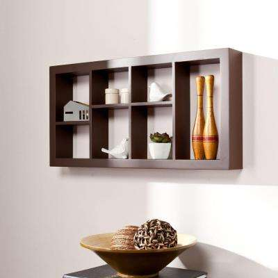 24 in. W Melvin Display Shelf in Chocolate