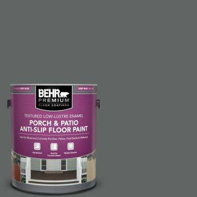 1 gal. #BXC-41 Charcoal Textured Low-Lustre Enamel Interior/Exterior Porch and Patio Anti-Slip Floor Paint