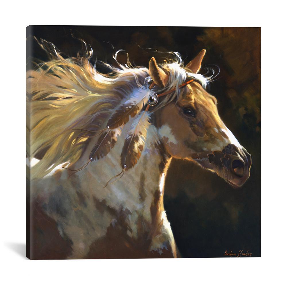 """""""Spirit Horse"""" by Carolyne Hawley Canvas Wall Art"""