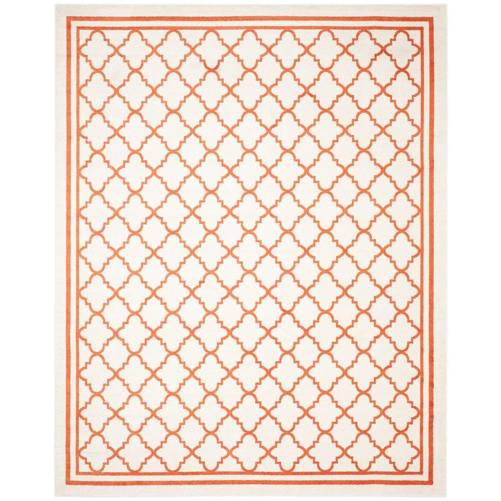 Amherst Beige/Orange 9 ft. x 12 ft. Indoor/Outdoor Area Rug
