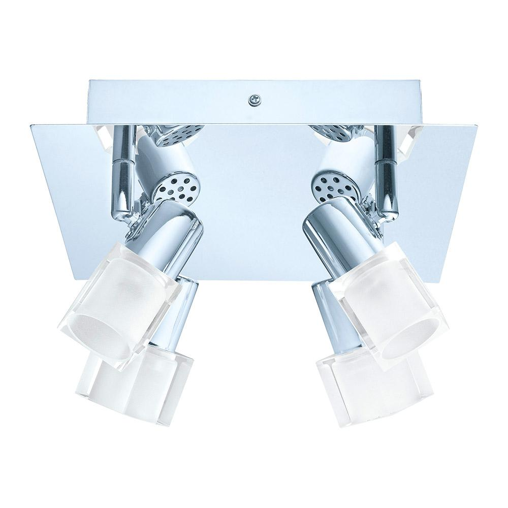 Chrome And Black Track Lighting: EGLO Nocera 10.2 In. Chrome Integrated LED Track Lighting