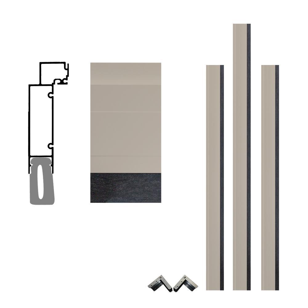 FrontLine Pro Series 5 1/2 In. X 96 In. X 96 In. Aluminum Clad Garage Door  Frame With Crownline Casing ULBA080859SD   The Home Depot