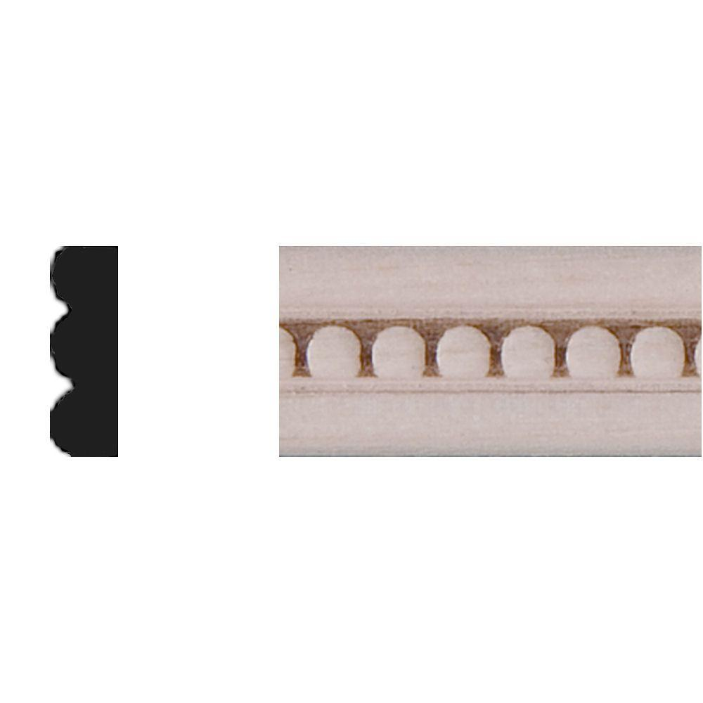 House of Fara 3/16 in. x 1/2 in. x 4 ft. Basswood Strip Moulding