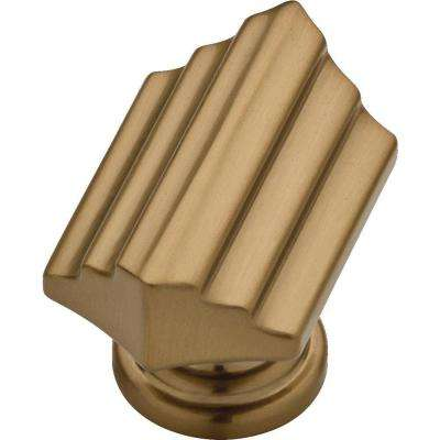 Julian 1-9/16 in. (39 mm) Champagne Bronze Step Cabinet Knob (25-Pack)