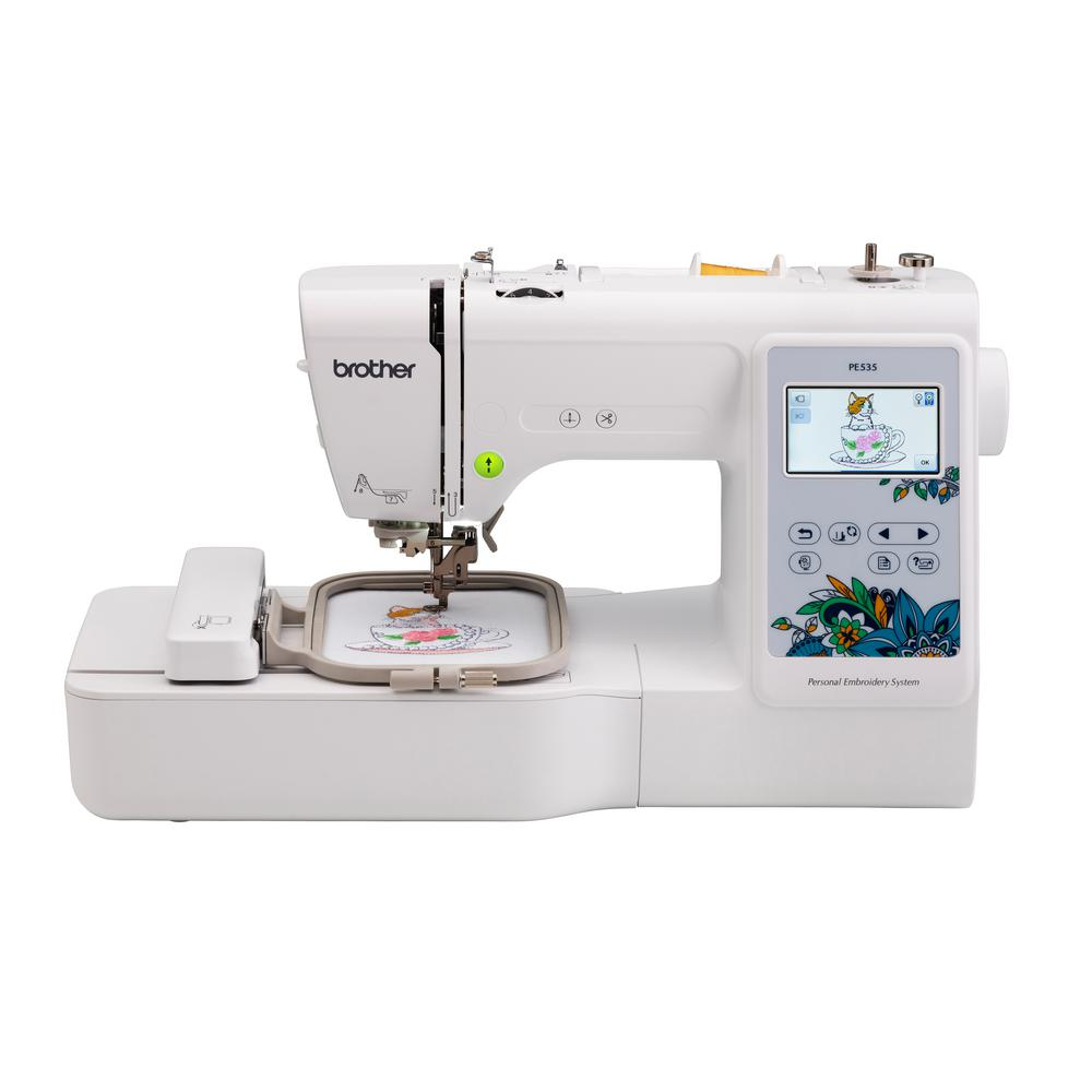 Brother Embroidery Machine With Large Color Touch Lcd Screen Pe535