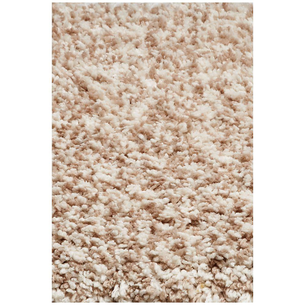 Kas Rugs Cushy Shag Rug Ivory Heather 7 ft. 6 in. x 9 ft. 6 in. Area Rug