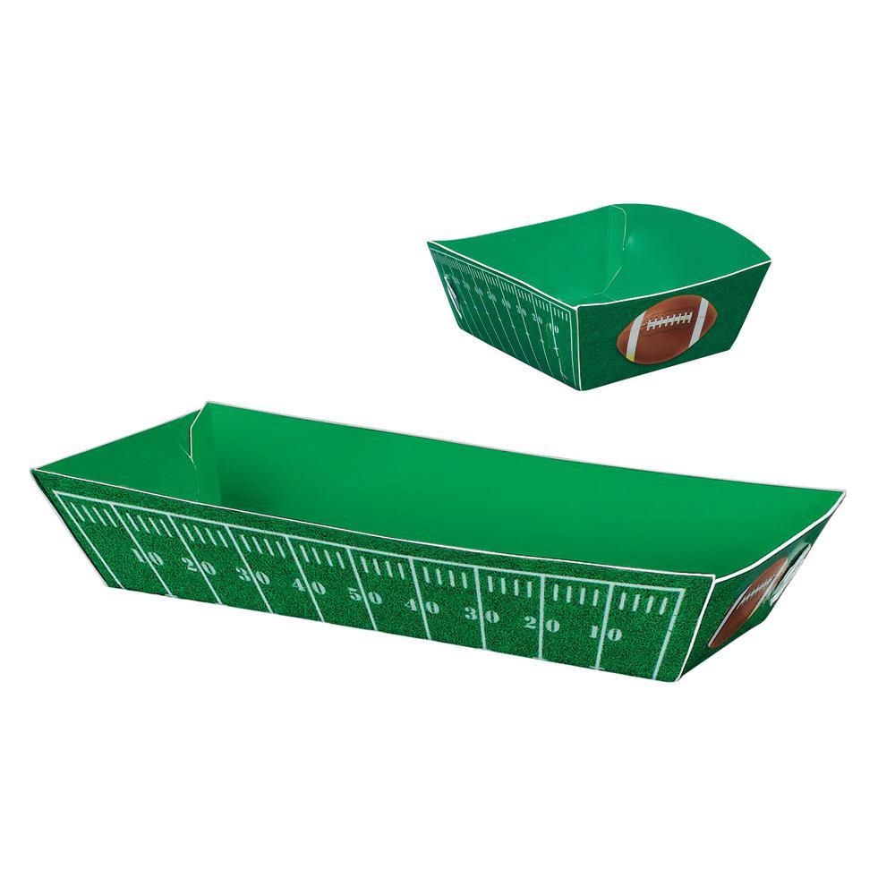 5 in. x 1.5 in. Football Field Paper Food Trays