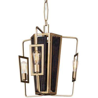 Madeira 3-Light Rustic Gold Chandelier
