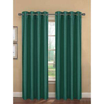 Semi-Opaque Becca Faux Silk Room Darkening Grommet Extra Wide Curtain Panel