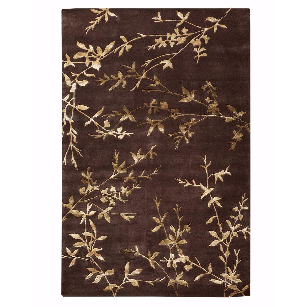 Home Decorators Collection Chaparral Chocolate 2 ft. 6 in. x 4 ft. 6 in. Area Rug