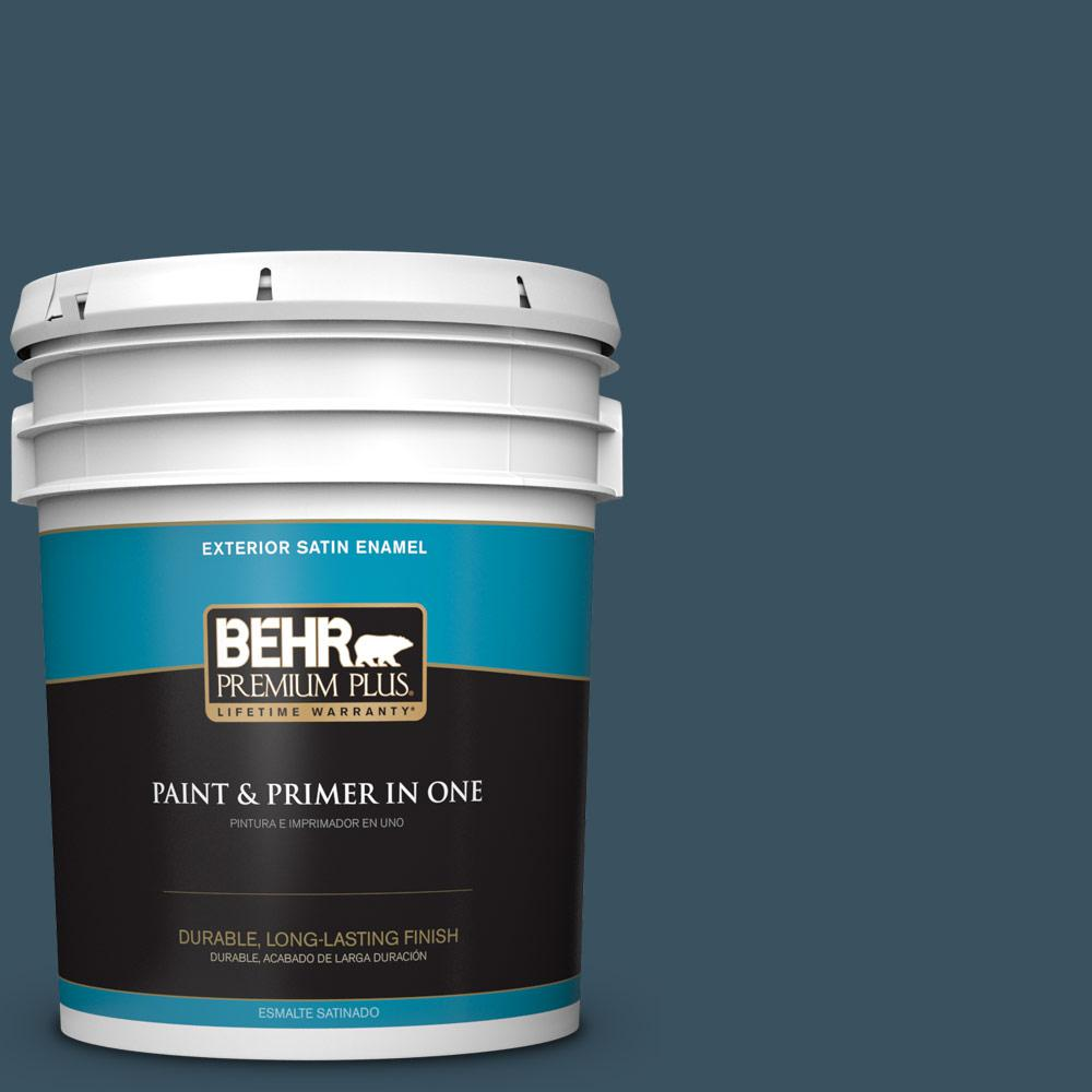 5 gal. #PPU13-20 Restless Sea Satin Enamel Exterior Paint