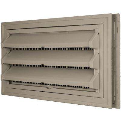9-3/8 in. x 17-1/2 in. Foundation Vent Kit with Trim Ring and Optional Fixed Louvers (Molded Screen) in #097 Clay