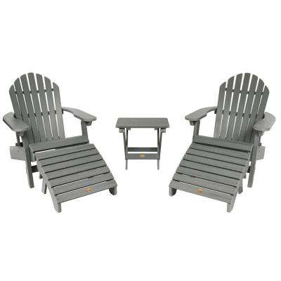 Hamilton Coastal Teak 3-Piece Recycled Plastic Outdoor Conversation Set