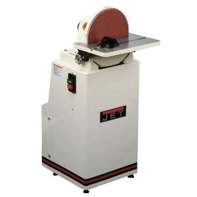 1.5 HP 12 in. Metalworking and Woodworking Industrial Disc Sander, 115/230-Volt J-4400A