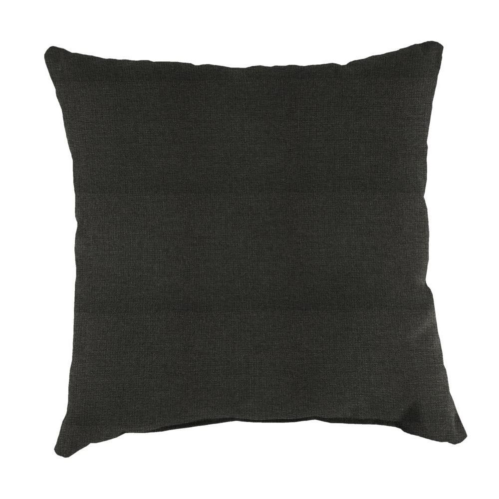 Jordan Sunbrella Spectrum Carbon Square Outdoor Throw Pillow